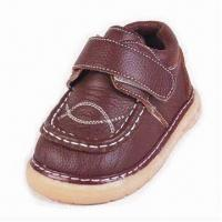 Buy cheap Genuine Leather Shoes for Boys, with Mesh Lining and Insole from wholesalers