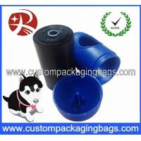 Buy cheap Black Pet Waste Dog Poop Bags Oxo-biodegradable With Blue Dispenser from wholesalers
