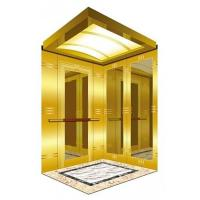 Buy cheap CE Certificate Passenger Elevator with Mirror and Etching Titanium Stainless Steel Car Wall & Acrylic Arched Roof from wholesalers