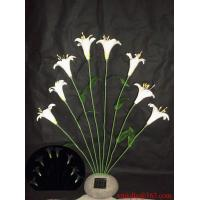 Buy cheap Solar White Lily On Poly Resin Stone from wholesalers