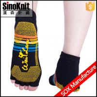 Buy cheap Custom Athletic Fashion 3D Womens Neon Yoga Five Toe Slipper Socks from wholesalers