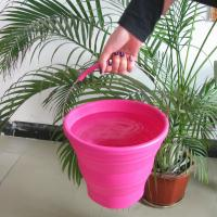 Buy cheap FDA Silicone Rubber Products collapsible silicone bucket with handle camping tools from wholesalers