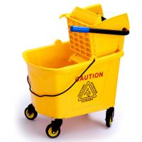 Buy cheap 36L Commercial Press Mop Wringer Trolley With Pushing Handle / Four Wheels from wholesalers
