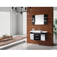 Buy cheap Wall mount PVC bathroom cabinet 80 X 47 / cm walnut Color Square vanity from wholesalers