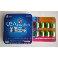 Buy cheap USA Blue Shark Sex Enhancement Pills Long Lasting Effective 3800mg * 8 Capsules from wholesalers