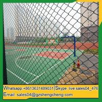 China Cow Bay China export hot sale green chain link fence diamond fencing on sale