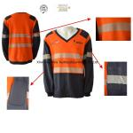Buy cheap Fire Retardant Work Shirts With Reflective Stripe from wholesalers