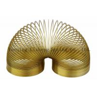 Buy cheap Lovely Design Metal Slinky Spring Yellow Color Carbon Steel / Stainless Steel Material product