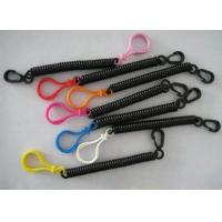 Buy cheap Stretchable Black Spring Key Coil Clips Colorful Blub Plastic Hook and Snap Hook from wholesalers
