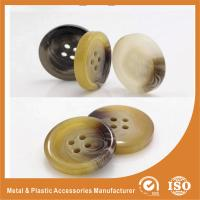 Buy cheap OEM Round clear 4 hole plastic button for garment accessories Eco-friendly from wholesalers