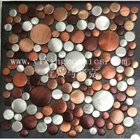 Buy cheap MA77 round colourful Brushed Aluminium Mosaic Wall or floor tile from wholesalers