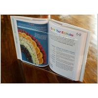 Buy cheap Light Weight Acrylic Menu Holder , Clear Acrylic Cookbook Holder With No from wholesalers
