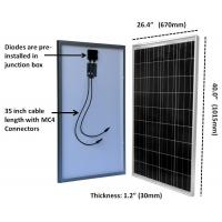 Buy cheap Tpt Backsheet Residential Silicon Solar Panels 100 Watt 3.2mm Tempered Glass from wholesalers