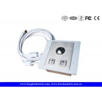 Buy cheap Panel Mounted Stainless Steel Trackball with Diameter 25mm,Left&Right Click Buttons from wholesalers