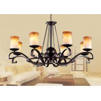 Buy cheap Contemporary Wrought Iron Blown Glass Chandeliers Lamp For Living Room / Bedroom from wholesalers