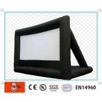 Buy cheap Mobile cinema rear projection Commercial Inflatable Movie Screen for backyard / amusement park from wholesalers