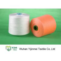 Buy cheap High Tenacity 40s/3 Dope Dyed Polyester Yarn , Orange / Green Z Twist Yarn product
