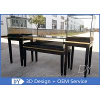 Buy cheap Glossy Black Wooden Glasses Jewelry Exhibition Case In OEM Size from wholesalers