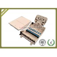 Buy cheap IP65 Grade Fiber Optic Termination Box Waterproof 8core For 1 * 4 / 1 * 8 Splitter ABS material from wholesalers