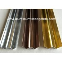 Buy cheap M Shaped Aluminium Internal Corner Backsplash Metal Trim For Shower Wall Panel from wholesalers