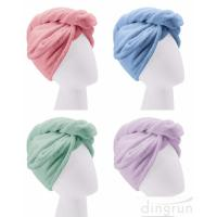 Buy cheap Custom Wholesale Fast Dry Absorbent Wrapped Twist Microfiber Hair Turban Towel with Buttons from wholesalers