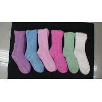 Buy cheap Colorful Womens Crew Socks / Ladies Plush Stockings from wholesalers