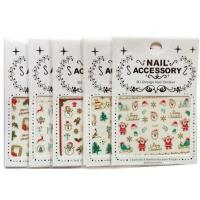 China Christmas Nail Accessory 3 D Design Nail Sticker Nail Art Sticker Decoration on sale