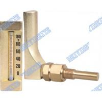 Buy cheap V Line Glass bimetallic thermometers Aluminum and gold colour body from wholesalers