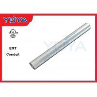 Buy cheap Electrical EMT Conduit Pipe , 20mm 25mm Galvanized Steel Conduit Pipe from wholesalers