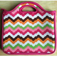 """Buy cheap Colorful wave tablet case 10"""" inch neoprene SBR laptop carry  case with handle tote Fits iPad Nook Kindle PINK New product"""