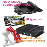 Buy cheap 3G 4G Wifi GPS 4CH SD Card HDD HD Mobile DVR With sim card for Car Security product