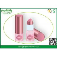 Buy cheap Cosmetics Round Paper Lipstick Tubes Canister 100% Eco Kraft For Lip Balm product
