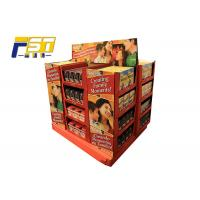 Buy cheap Innovative Two - Sides Cardboard Pallet Display , Chocolate Pallet Retail Display With Shelves from wholesalers