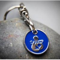 Buy cheap Metal Personalised Trolley Coin Keyring , Promotional Shopping Cart Token Key Chains from wholesalers