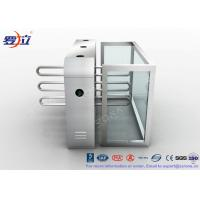 Buy cheap Fingerprint Reader Waist Height Turnstiles Stainless Steel Turnstyle Gate For Access Control from wholesalers
