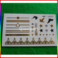 Buy cheap custom gold flash tattoo from wholesalers