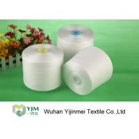 Quality Bright Ring Spun Polyester Yarn On Plastic / Paper Cone With 100% Virgin PES Fiber for sale