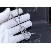 Buy cheap Shinning Full Diamond Bulgari Parentesi Necklace In 18K White Gold product