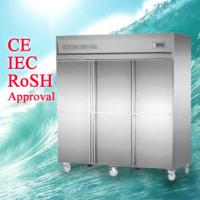 Buy cheap Commercial Stainless Steel Upright Freezers 6 Doors with universal wheel For Restaurant from wholesalers