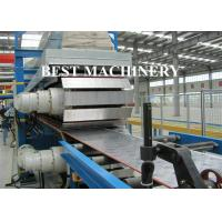 Buy cheap Continuous Foam PU Sandwich Panel Production Line 25mx2.2mx2.5m Dimention from wholesalers