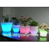 Buy cheap Beautiful Color changing led lighted flower pots outdoor  ,Illuminated LED Ice Bucket / cooler from wholesalers