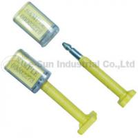 Yellow Steel Pin Material Security Railcar Seals With print company logos For Containers