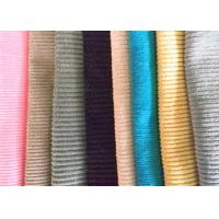 Buy cheap Printed Cotton Corduroy Fabric 16 Wale Flame Retardant For Curtain / Dress from wholesalers