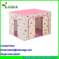 Buy cheap Red dark girl laundry storage box non woven cloth bread baskets from wholesalers