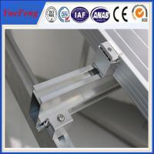 Buy cheap Aluminum Solar Rail Mounting Structures, solar panel mounting aluminum rail product