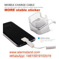 Buy cheap COMER mobile phone cable locking security acrylic stands with alarm charging cord for mobile phone accessories store from wholesalers