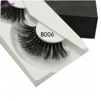 Buy cheap Thick Long Cross 3D Mink Eyelashes Real Mink Fur Looks Flutter And Soft Touch from wholesalers