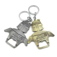 Buy cheap Die casting cool innovative star wars 2D souvenir beer bottle opener keychain, copper and bronze plating. from wholesalers
