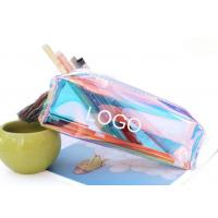 Buy cheap Colorful and transparent fresh pen bag 19.5*6.5*5.5cm  transparent plastic from wholesalers