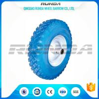 Buy cheap Blocky Pattern Foam Filled Tires Plastic Rim 150kg Loading No Floor Damages from wholesalers